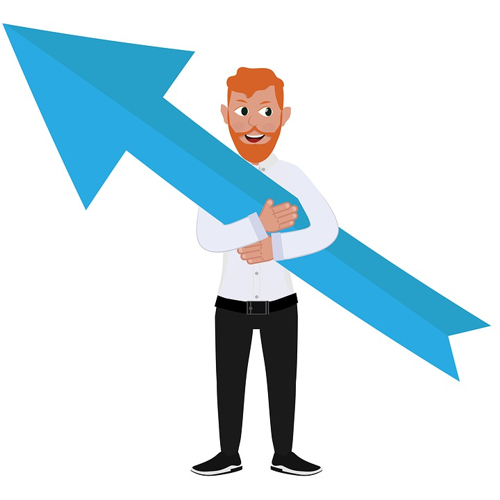 Figure, Graphics, Arrow Sign, Person, Business