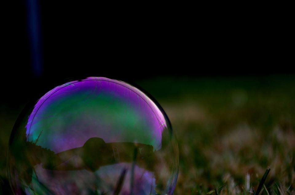 Bubble, Purple, Round, Grass, Shape, Transparent