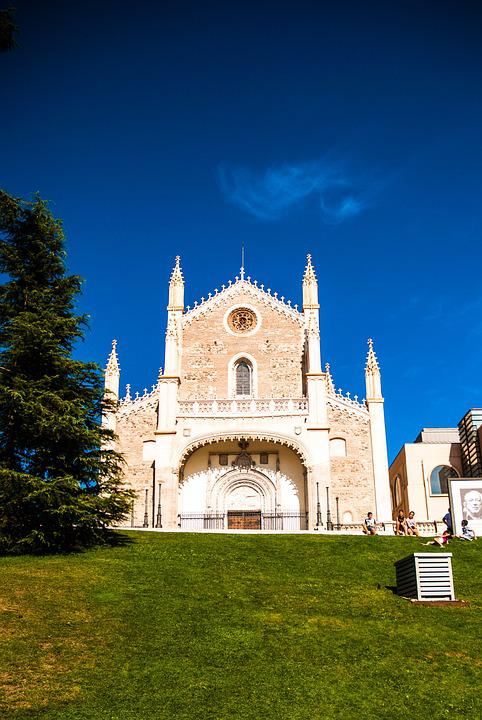 Church, Madrid, Spain, Grass