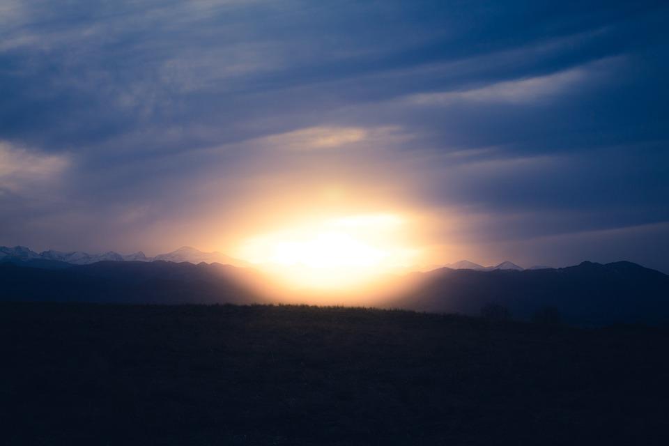 Clouds, Dawn, Dusk, Evening, Grass, Horizon, Landscape