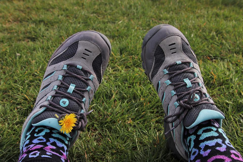 Sports Shoes, Hipster, Laces, Shoes, Grass, Two