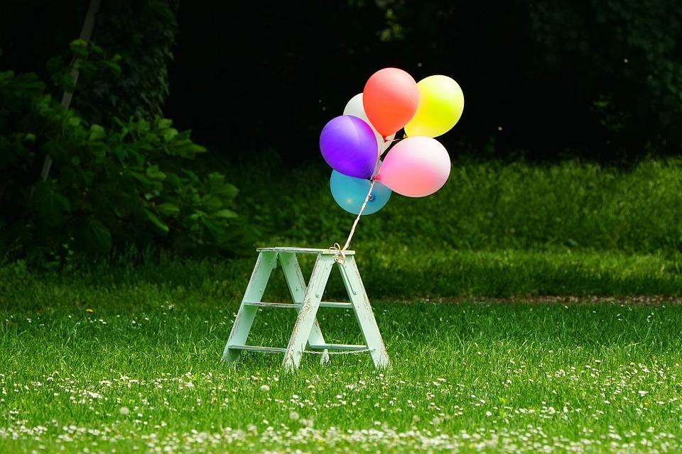 Grass, Summer, Balloon, Meadow, Pleasure