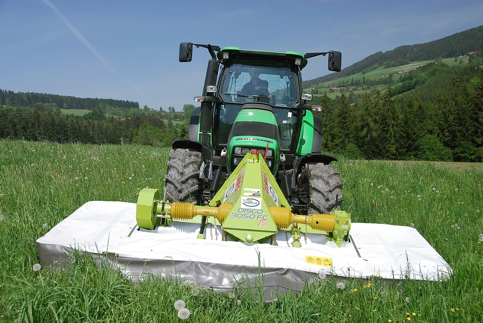 Grass Mowing, Tractor