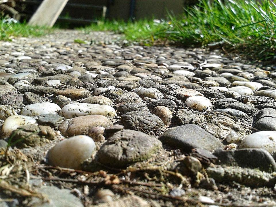 Stones, Away, Grass, Rush, Garden, Steinig, Nature