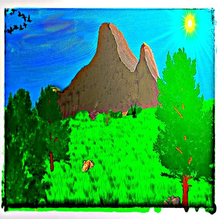 Landscape, Nature, Summer, Grass, Mountain, Rock