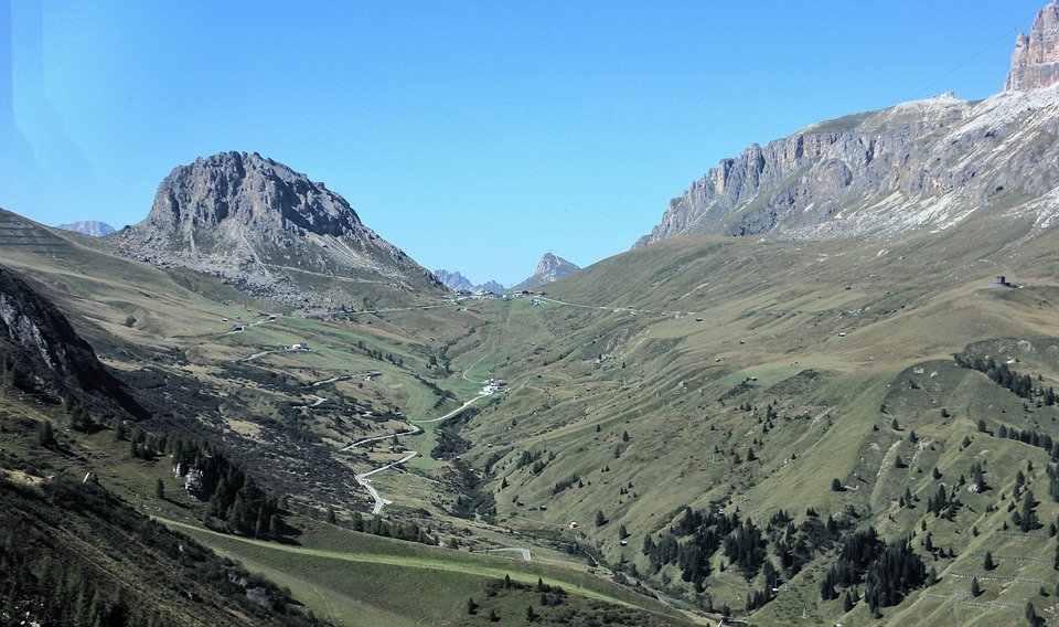 Mountain, Nature, Travel, Landscape, Sky, Tree, Grass