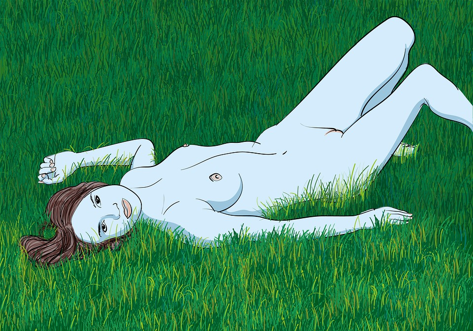 Nude, Woman, Grass, Body, Girl, Erotic, Naked, Meadow