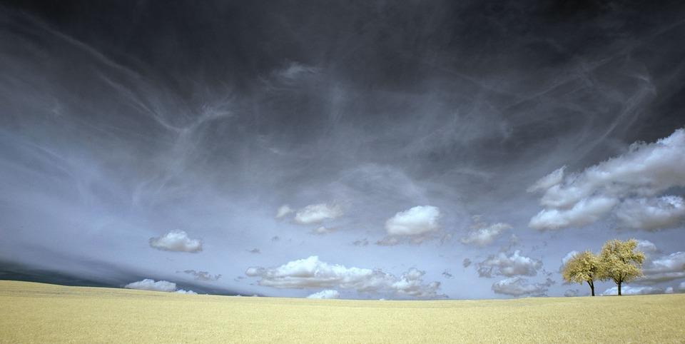 Clouds, Field, Grass, Landscape, Nature, Outdoors
