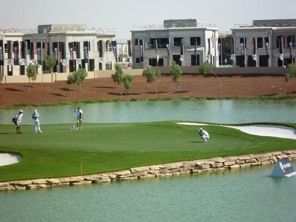 Golf, Dubai, Flag, Grass, Course, Green, Hole, Putter