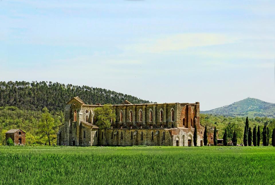 Tuscany, Ruin, Old, Historically, Nature, Sky, Grass