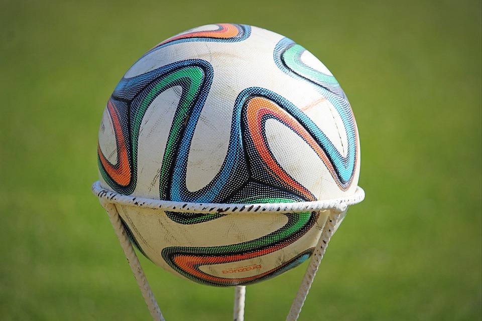 Ball, Adidas, Football, Sports, Stand, Course, Grass