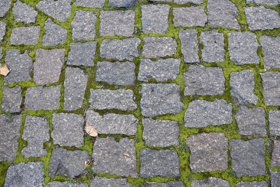 Paving Stones, Grass, Moss, Stones, Ground, Away