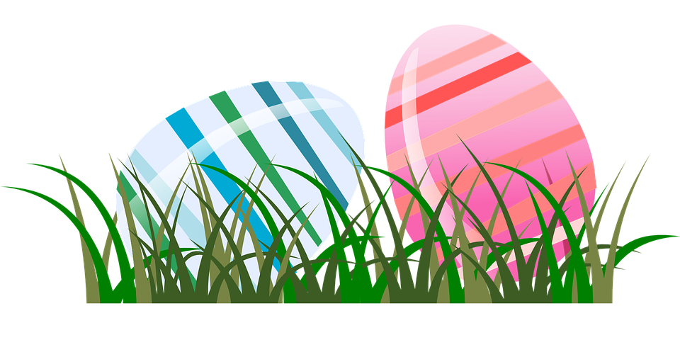 Spring, Grass, Eggs, Easter, Striped, Stripes, Holiday