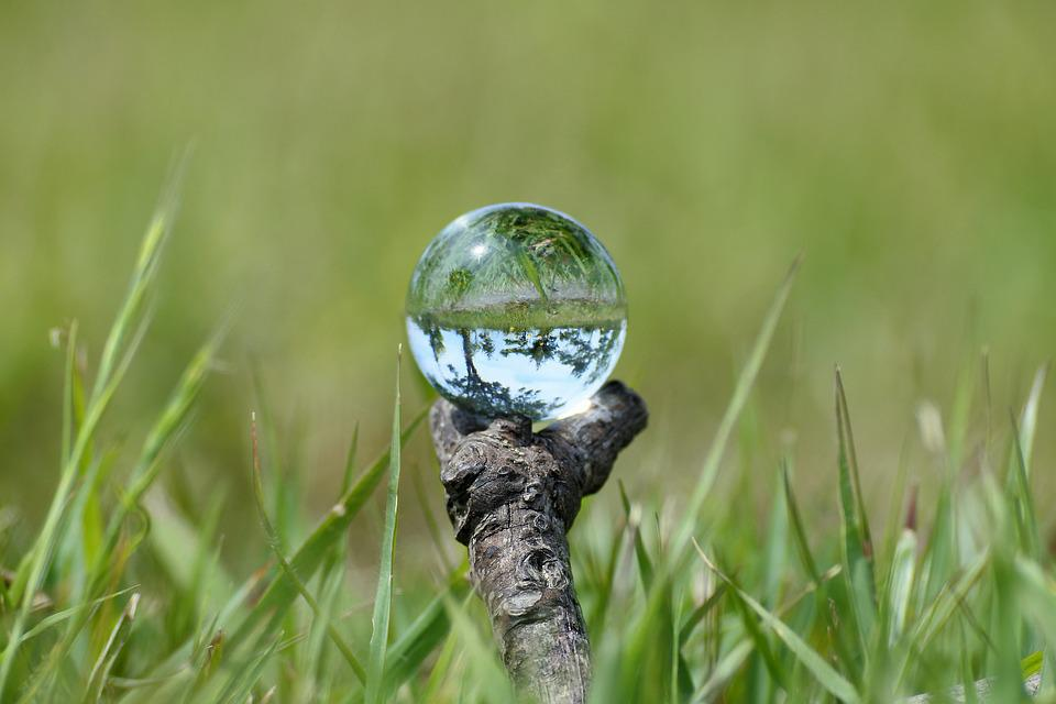 Natural, Landscape, Grass, Twigs, Glass, Marble