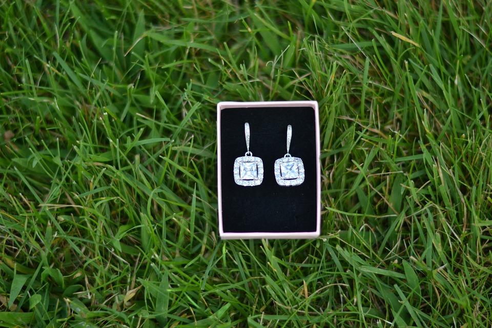 Earrings, Wedding Jewelry, Jewelry, Grass