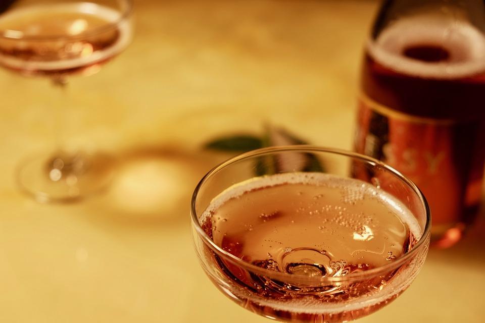 Sparkling Wine, Grasses, Bottle, Party, Joy
