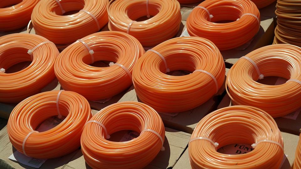 Cable, Orange, Work, Grasstrimmers, Garden, Neon Colors