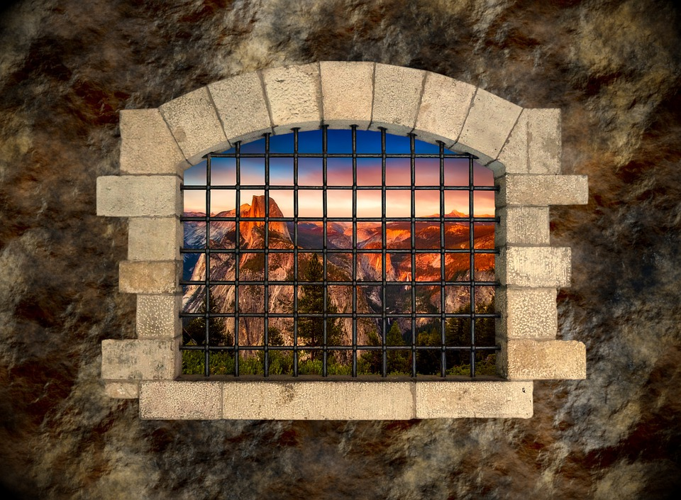Window, Stone, Wall, Grate, Opening, Architecture