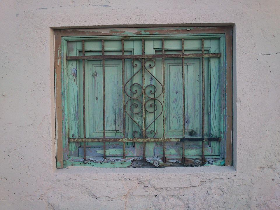 Window, Old, Colors, Vintage, Grating, Green
