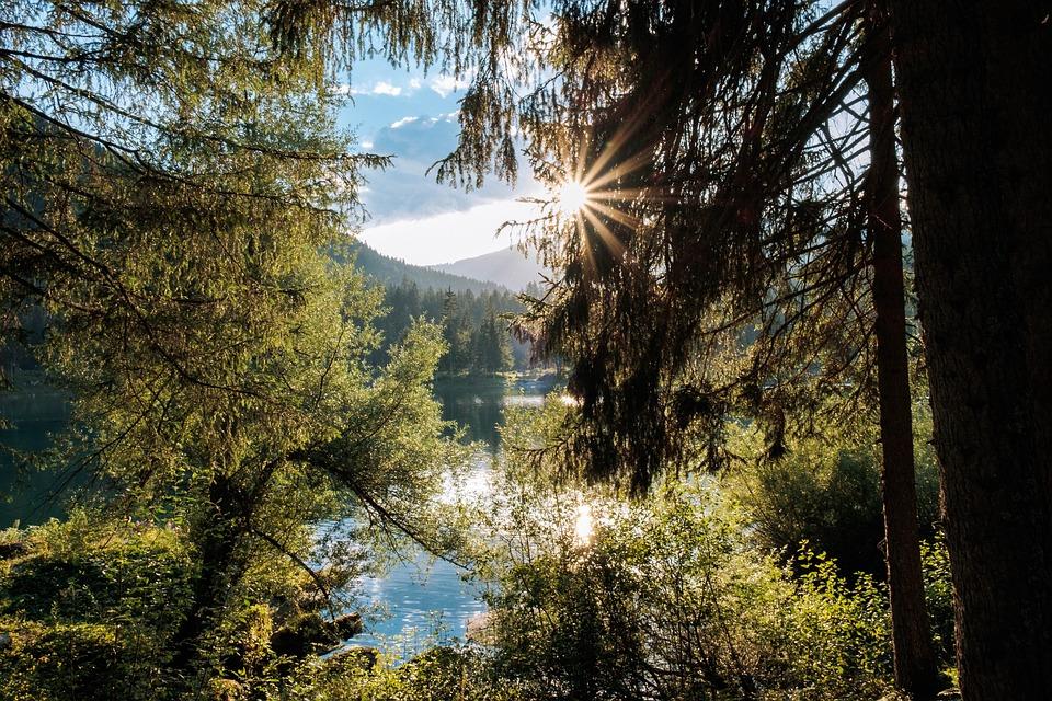 Flims, Graubünden, Switzerland, Caumasee, Bergsee