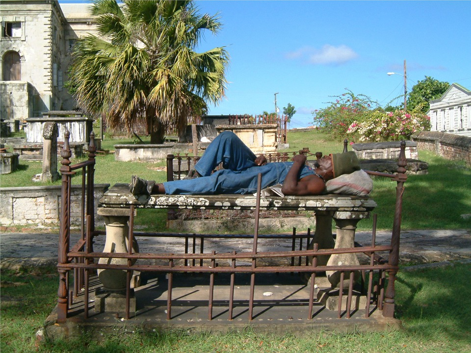 Cemetery, Burial Ground, Grave, Caribbean, Antigua