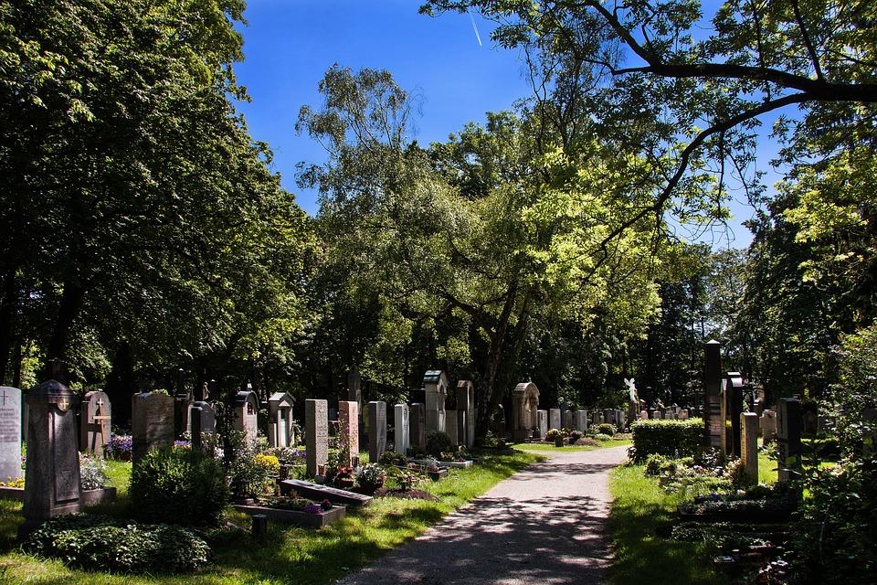 Cemetery, Grave Stones, Graves, Park, Grave Boards