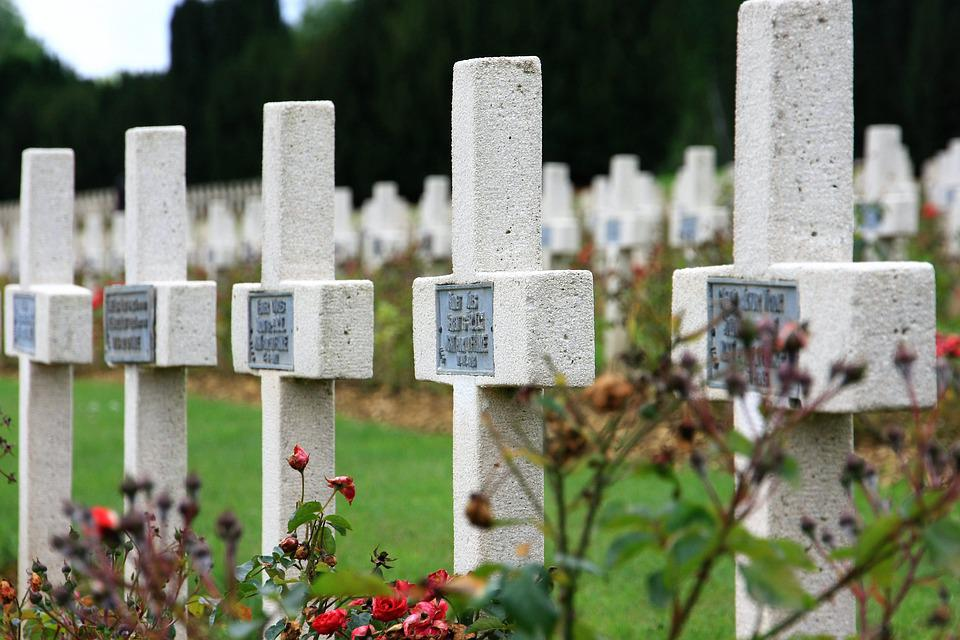 Cemetery, Tombstone, Grave, Military Cemetery, Funeral