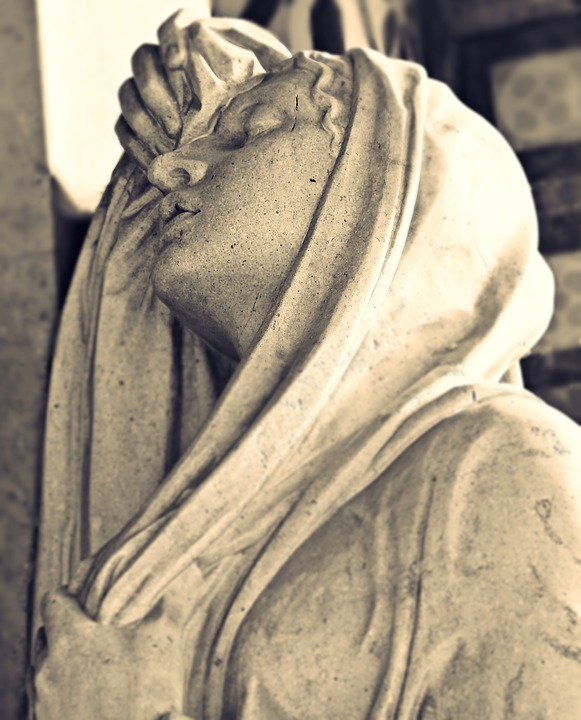 Cemetery, Grave, Tombstone, Fig, Tomb Figure, Sculpture