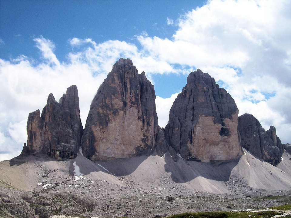 Three, Tops, Gravel, Italy, Dolomites