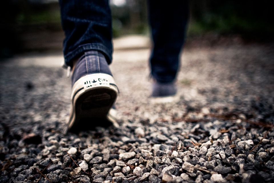 Walking, Feet, Gravel, Path, Shoes, Walk, Legs, Man