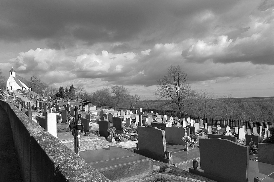 Cemetery, Graves, Grave Stones, Atmosphere, Chapel