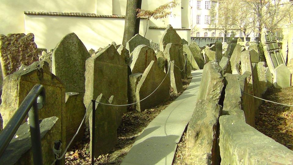 Cemetery, Prague, Tombstone, Jewish Cemetery, Graves