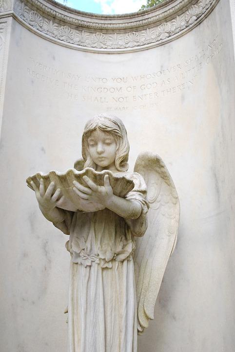 Monument, Cemetery, Angel, Statue, Gravestone, Savannah