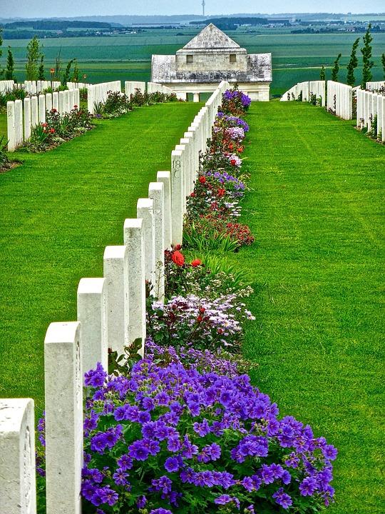 Gravestones, Soldiers, Memorial, Military, Cemetery