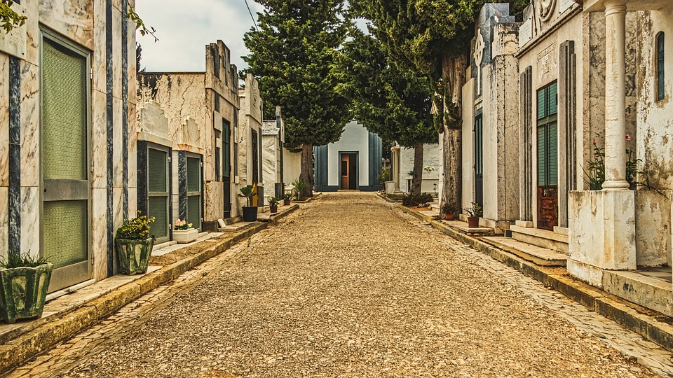 Graveyard, Cemetery, Architecture, Europe, Portugal