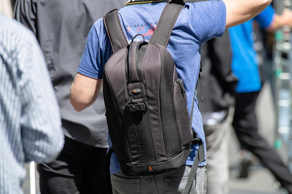 Backpack, Camera Bag, Photographer, Gray Camera