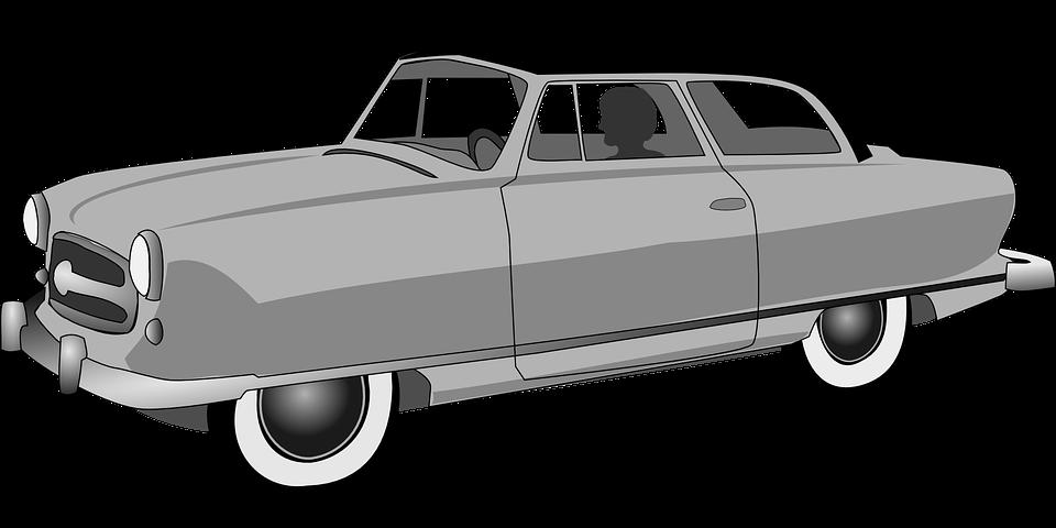 Automobile, Car, Convertible, Gray, Transportation