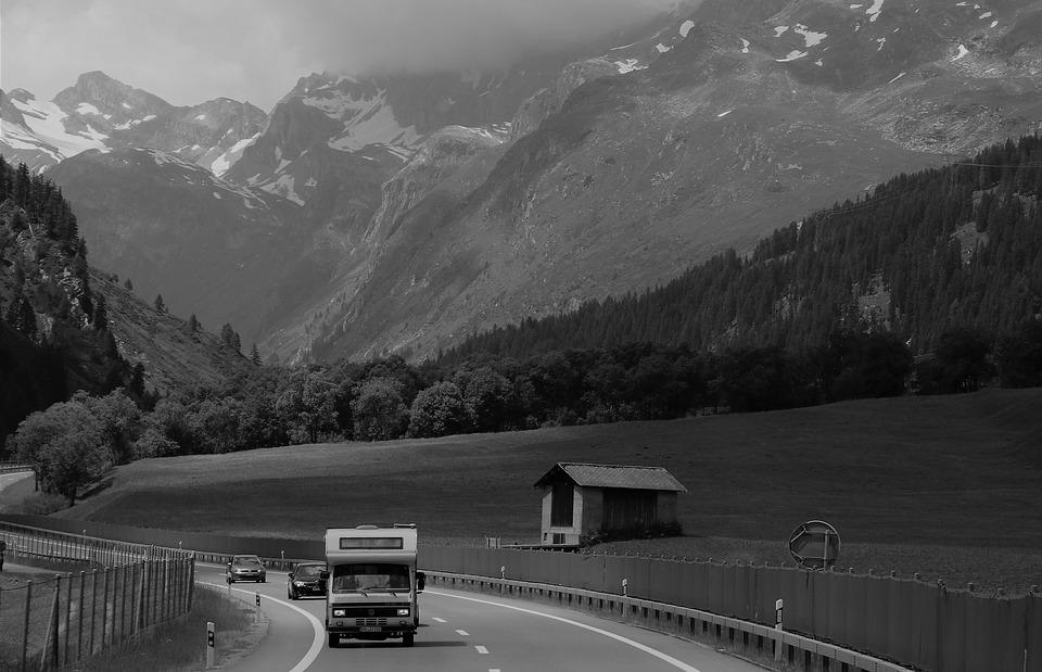Mountain, Gray, Bend, Travel, Highway, Transport, Drive