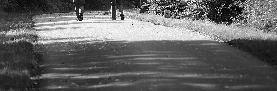 Trail, Feet, Hiking, Leisure, Sw, Grayscale, Walk
