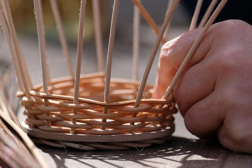 Basket, Graze, Wood, Hand, Craft, Basket Weave