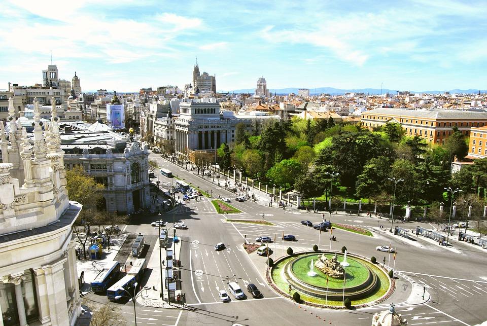 Madrid, Cibeles, Great Way, Bank Of Spain, City