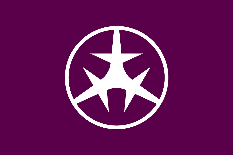Flag, Setagaya, Greater, Tokyo, Purple, White, Japan