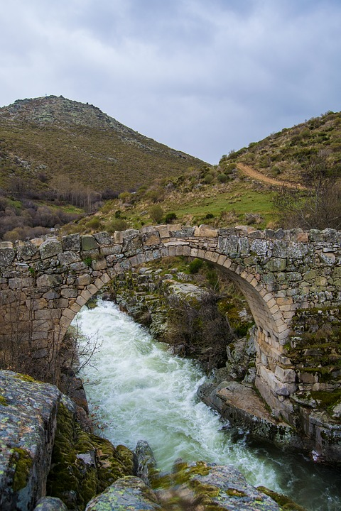 Bridge, Water, Landscape, Gredos, Spain, Nature, River