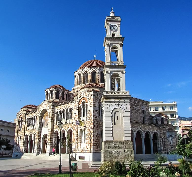 Greece, Volos, Cathedral, Ayios Nikolaos, Church