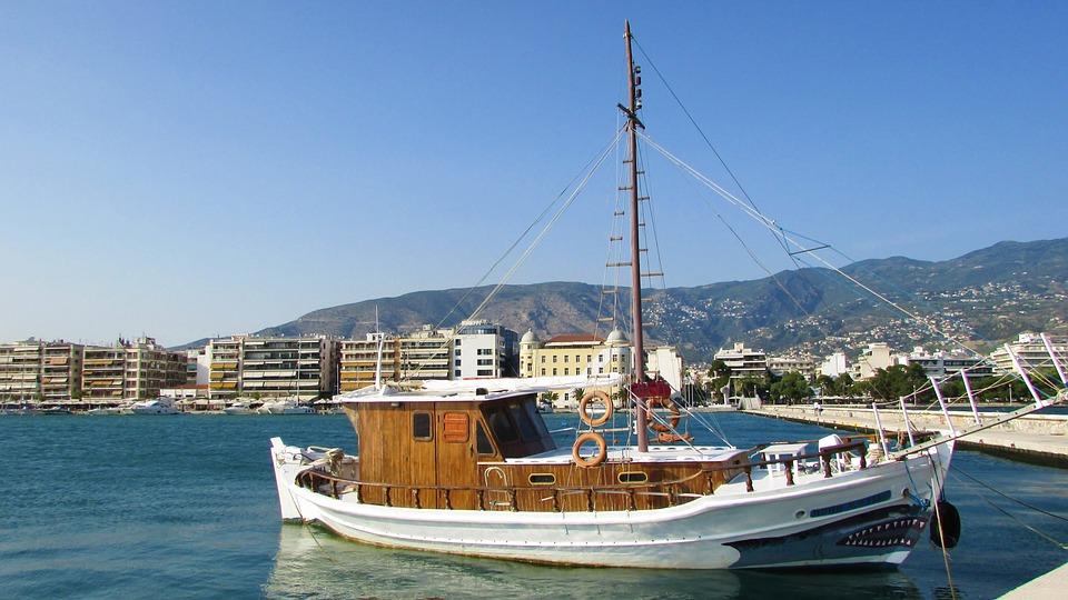 Greece, Volos, Promenade, Boat, Thessaly, Magnesia