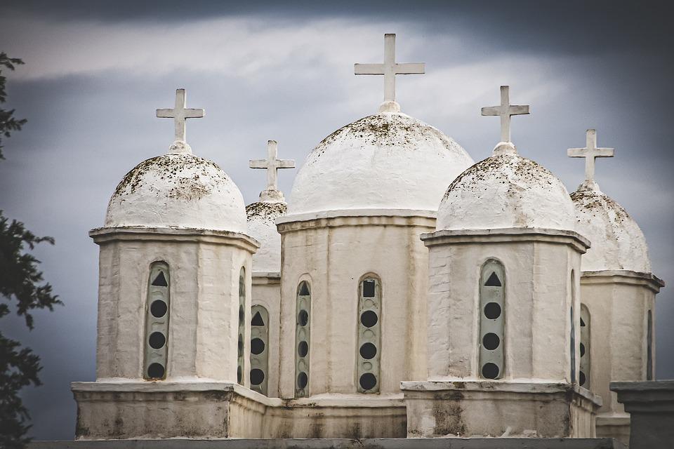 Church, Chapel, White, Greece, Dome, Religion