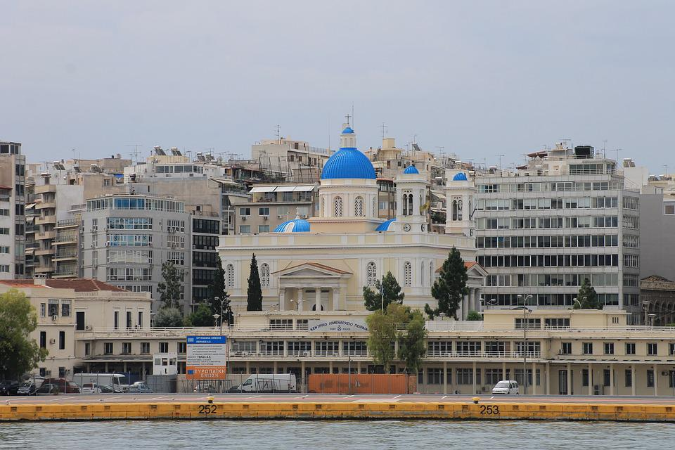 Greece, Athens, Temple, Cathedral, Sea, City, Quarter