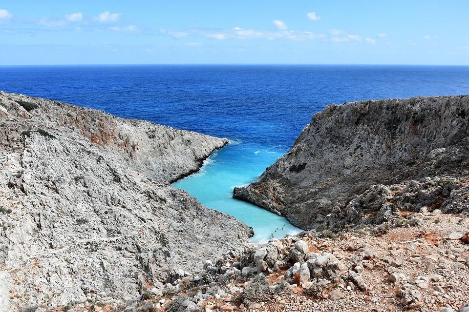 Seitan Limania, Greece, Crete, Blue, Holiday, Lazur