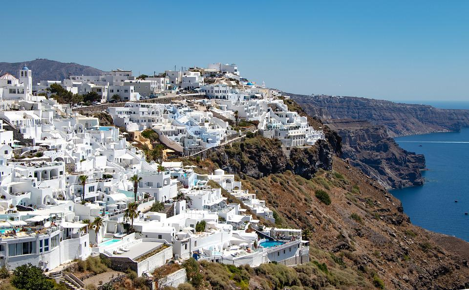 Santorini, Greece, Landscape, Holiday, Water, Nature