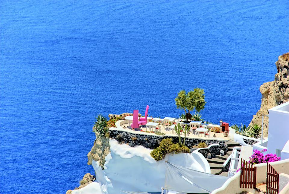 Greece, Santorini, Beach, The Sun, Holidays, Summer